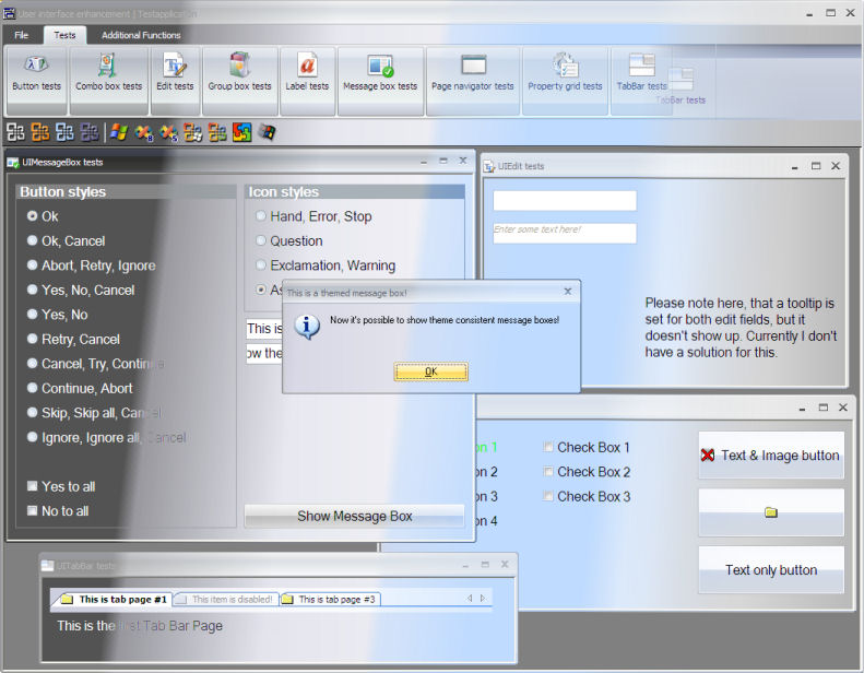 RACON.SQLWindows.UserInterface Screenshot